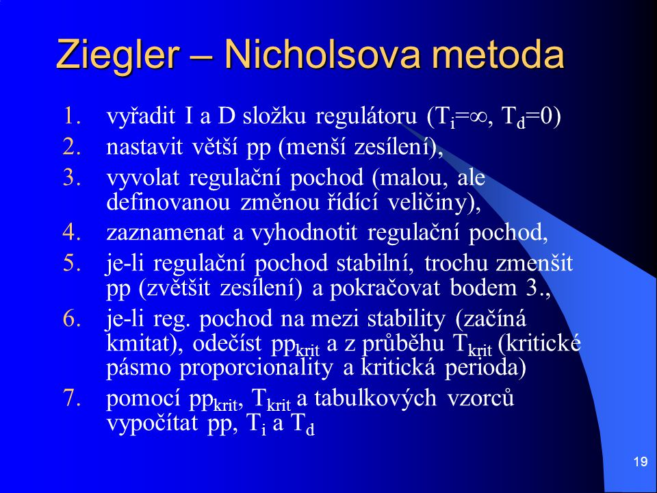Ziegler – Nicholsova metoda