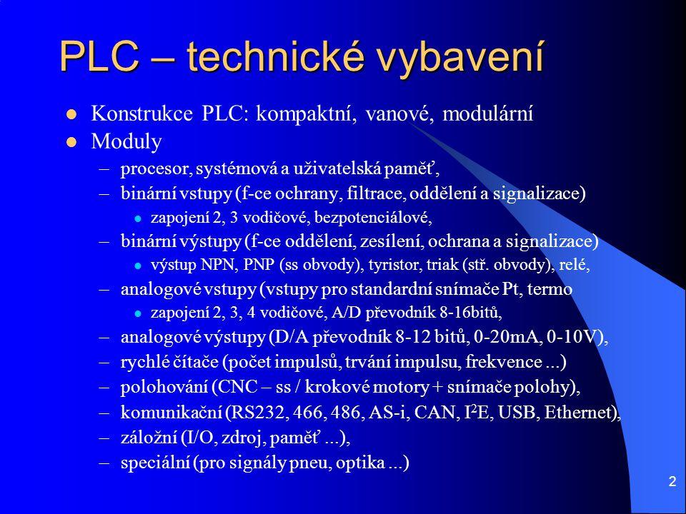PLC – technické vybavení