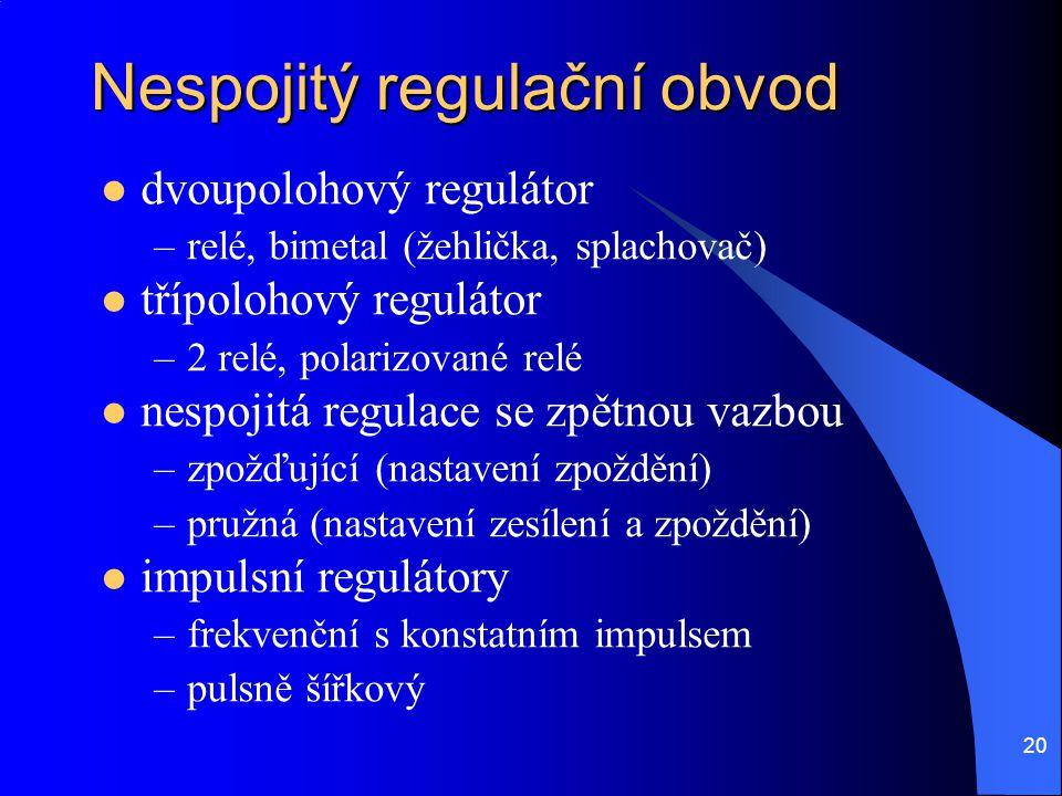 Nespojitý regulační obvod