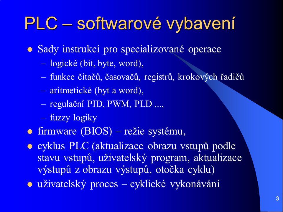 PLC – softwarové vybavení