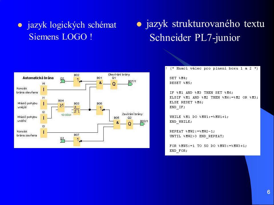 jazyk strukturovaného textu Schneider PL7-junior