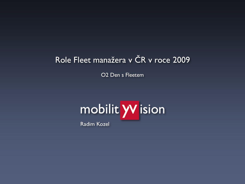 Role Fleet manažera v ČR v roce 2009