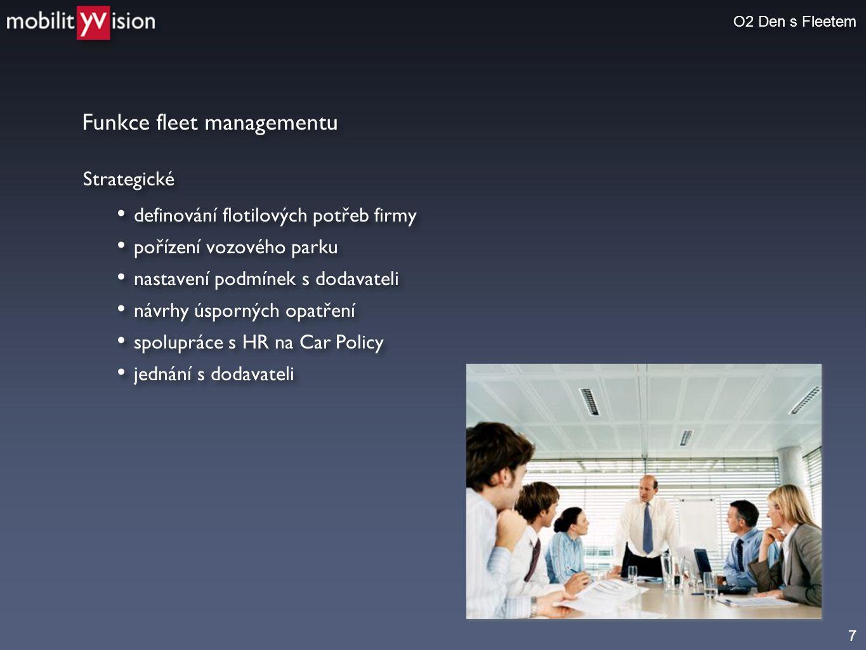 Funkce fleet managementu