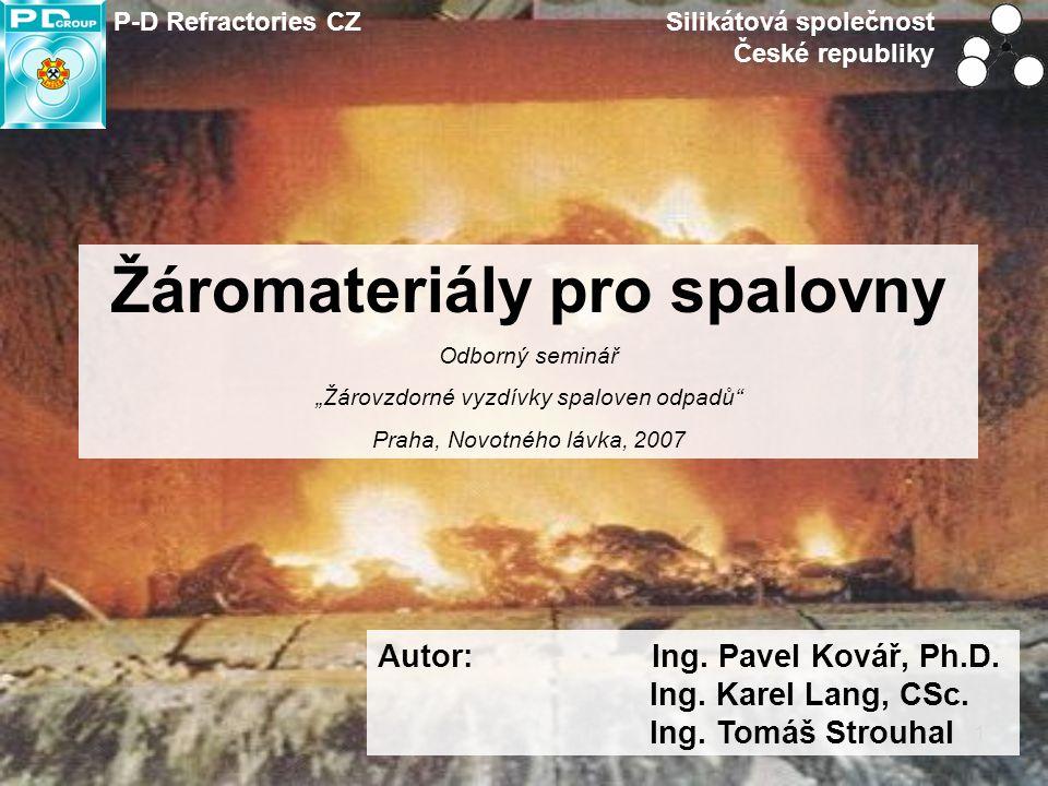 Žáromateriály pro spalovny