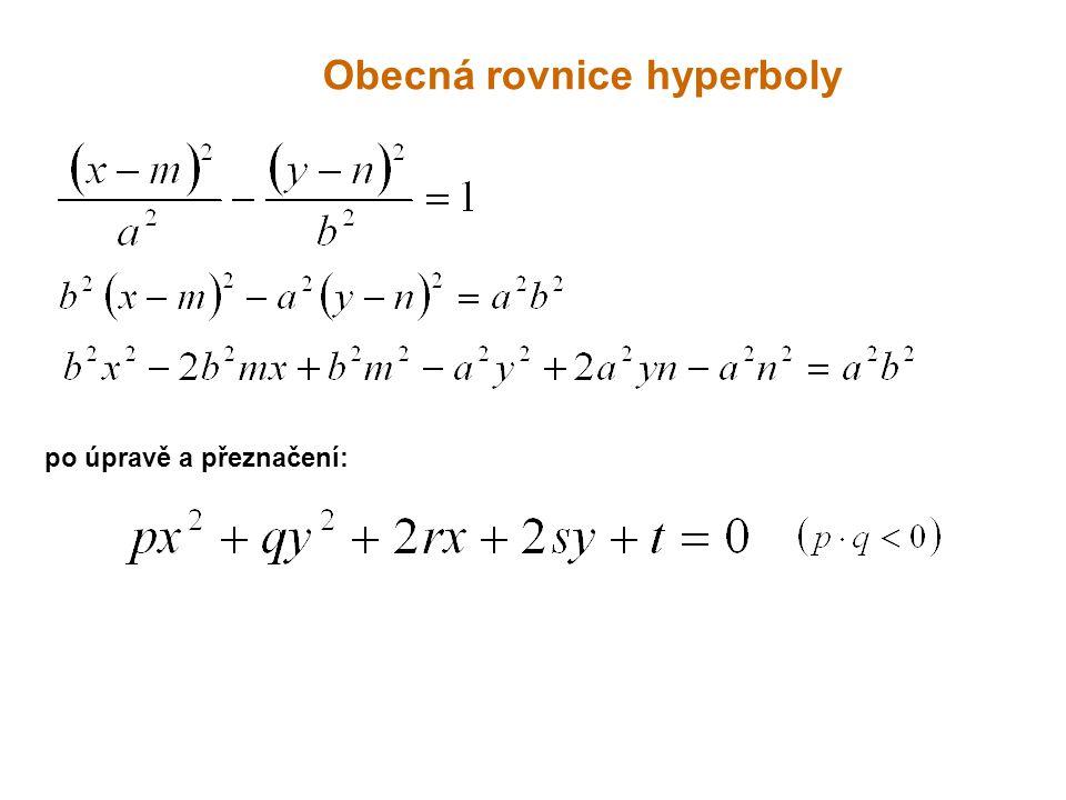 Obecná rovnice hyperboly