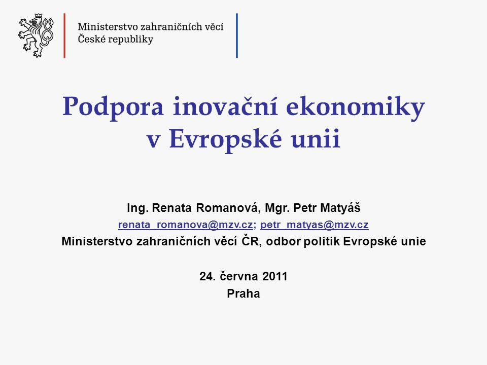 Podpora inovační ekonomiky v Evropské unii