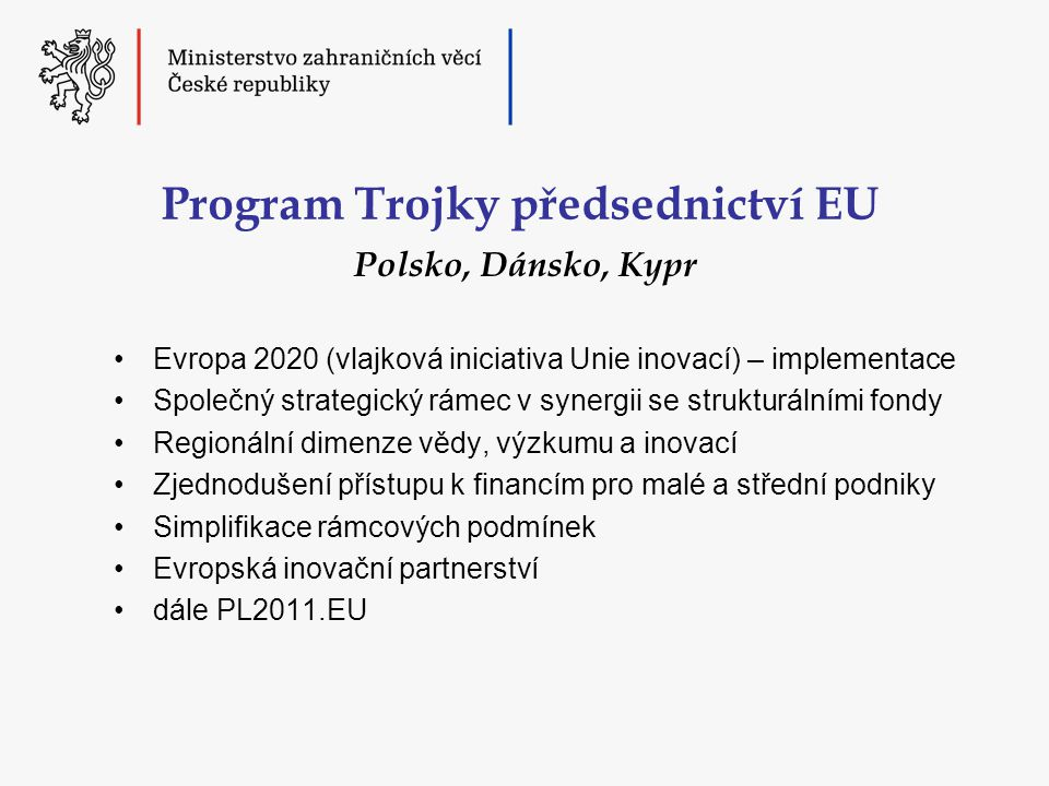 Program Trojky předsednictví EU