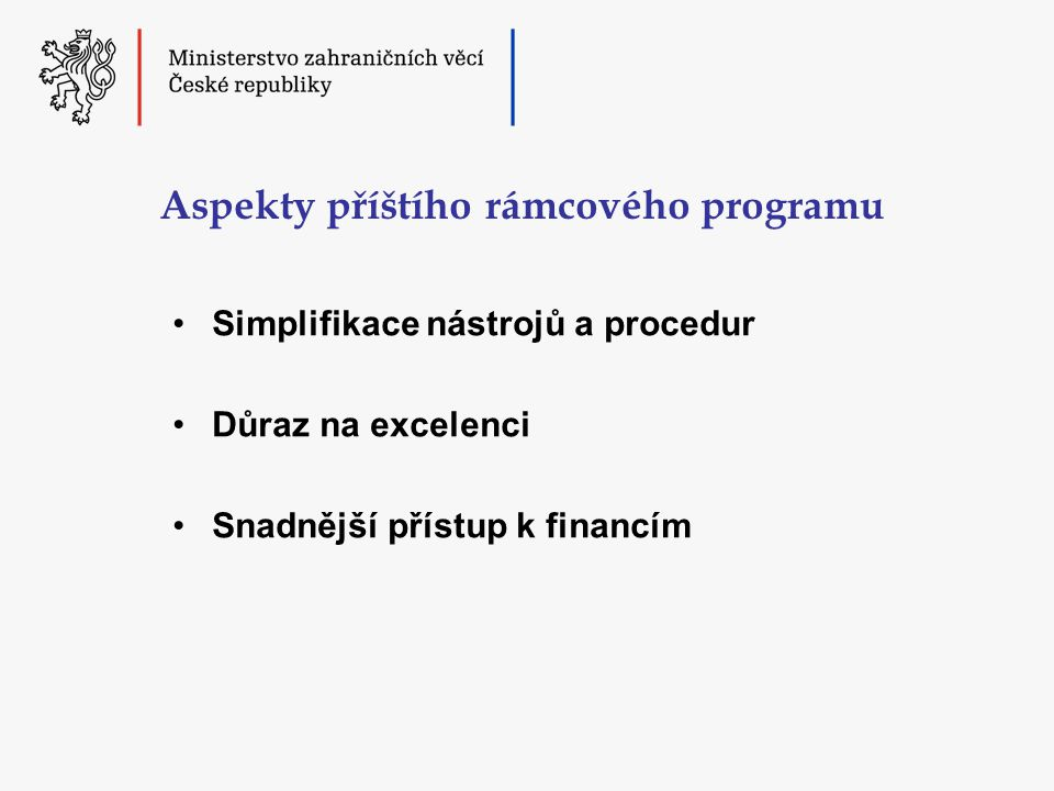 Aspekty příštího rámcového programu