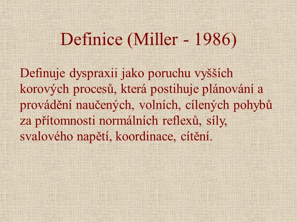 Definice (Miller - 1986)