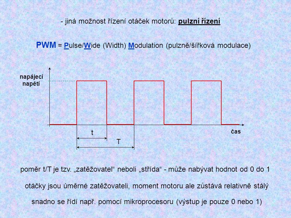 snadno se řídí např. pomocí mikroprocesoru (výstup je pouze 0 nebo 1)