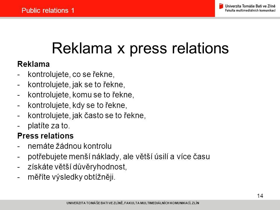 Reklama x press relations