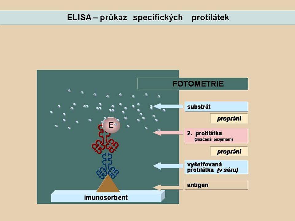 ELISA – průkaz specifických protilátek