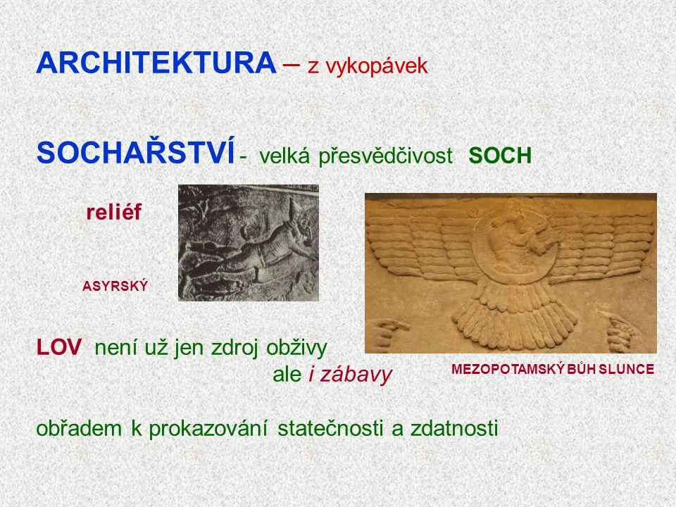 ARCHITEKTURA – z vykopávek