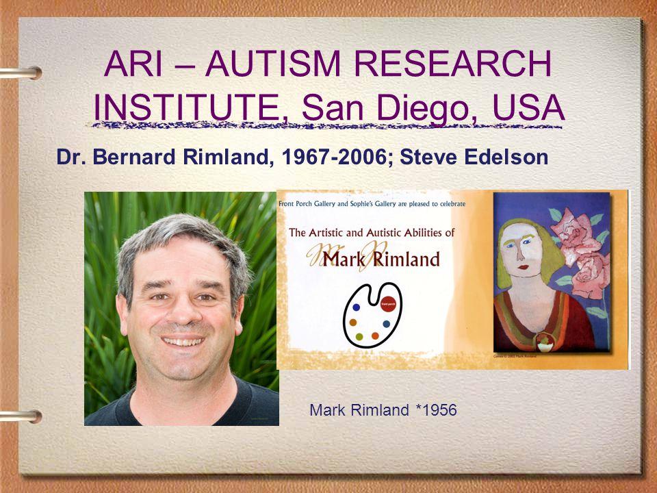 ARI – AUTISM RESEARCH INSTITUTE, San Diego, USA