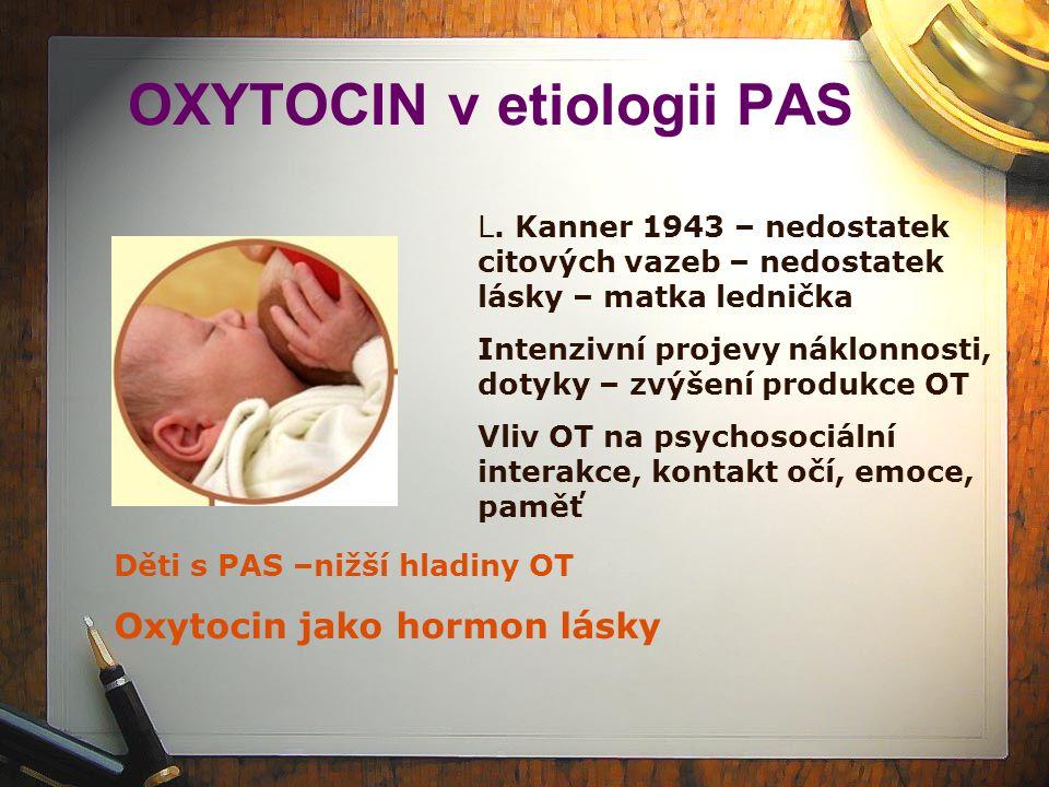 OXYTOCIN v etiologii PAS