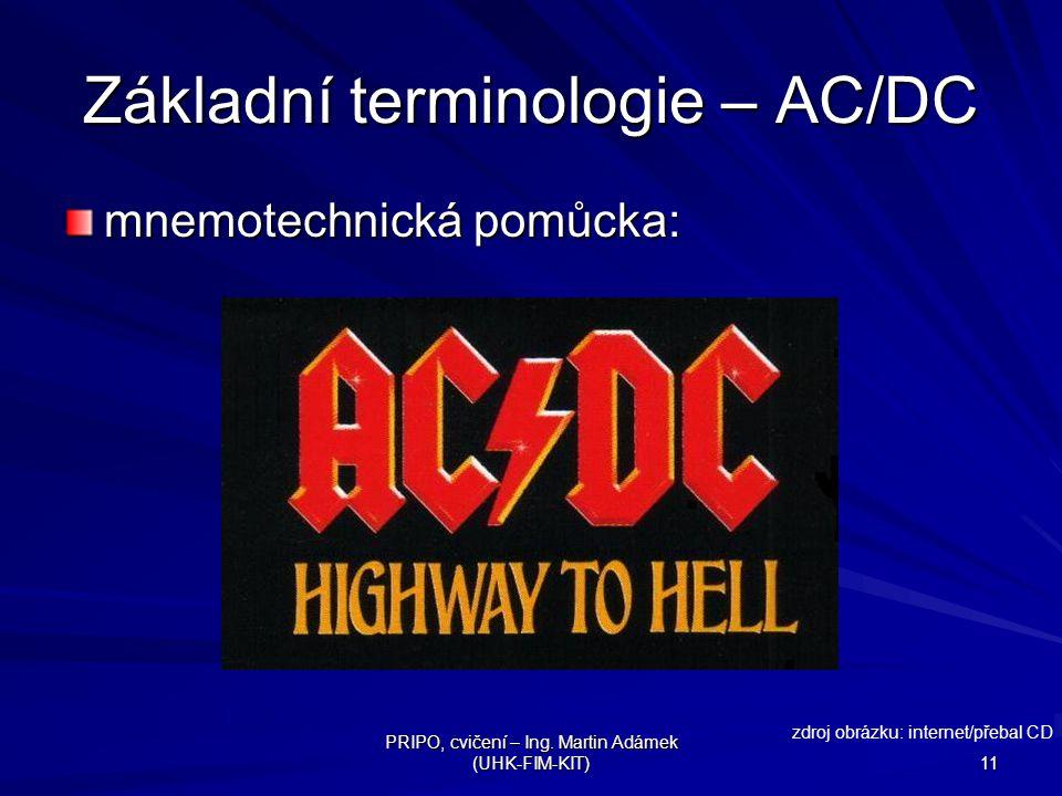 Základní terminologie – AC/DC
