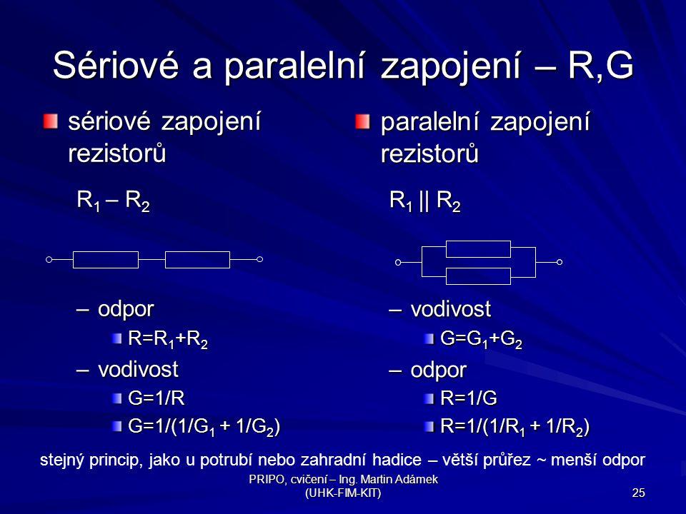 Sériové a paralelní zapojení – R,G