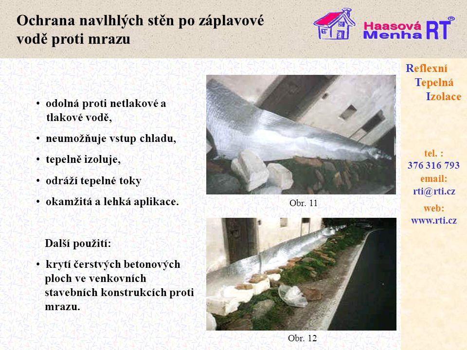 Ochrana navlhlých stěn po záplavové vodě proti mrazu