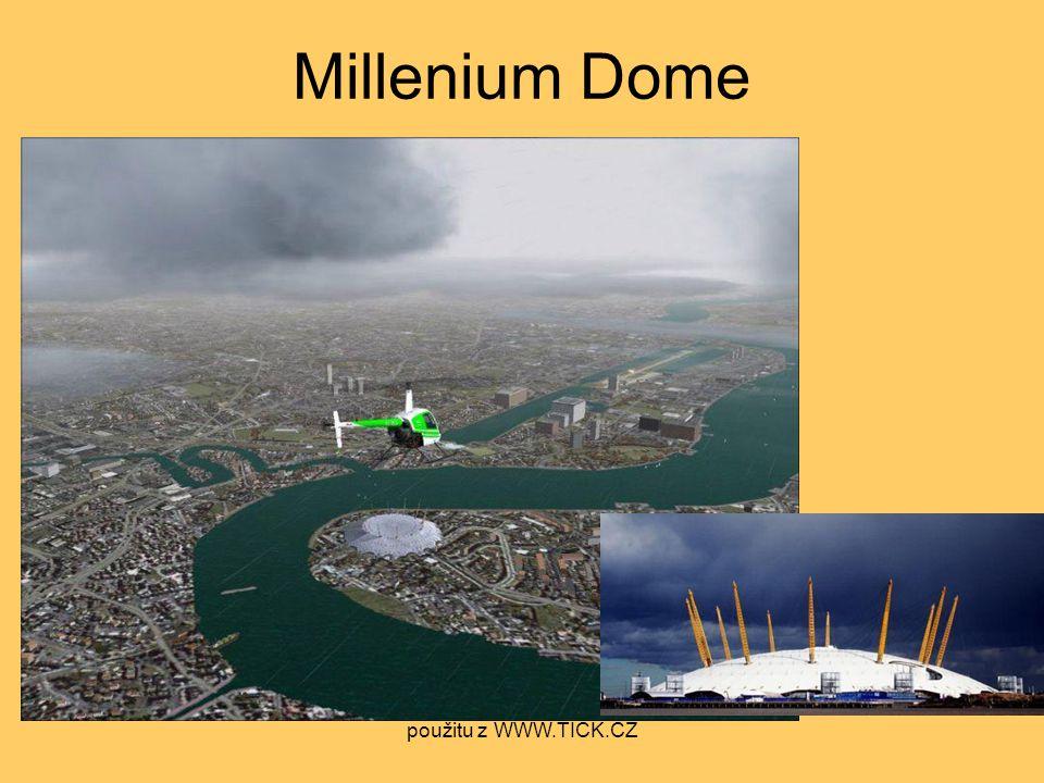 Millenium Dome použitu z WWW.TICK.CZ