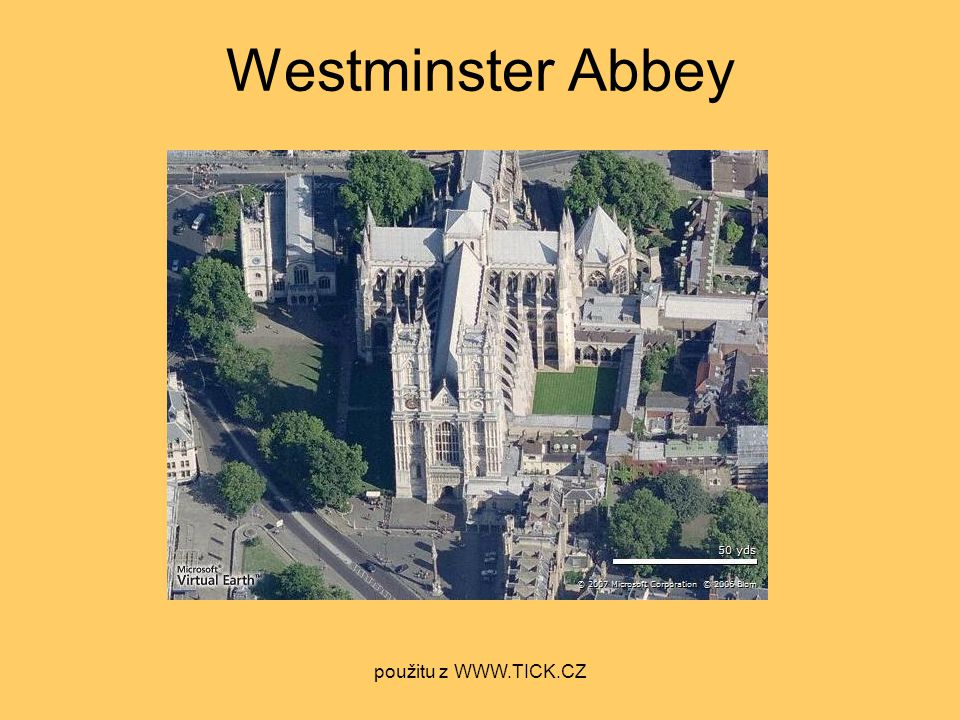 Westminster Abbey použitu z WWW.TICK.CZ