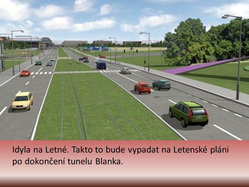 Idyla na Letné. Takto to bude vypadat na Letenské pláni po dokončení tunelu Blanka.