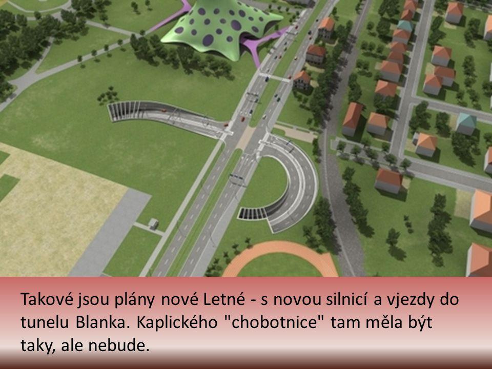 Takové jsou plány nové Letné - s novou silnicí a vjezdy do tunelu Blanka.