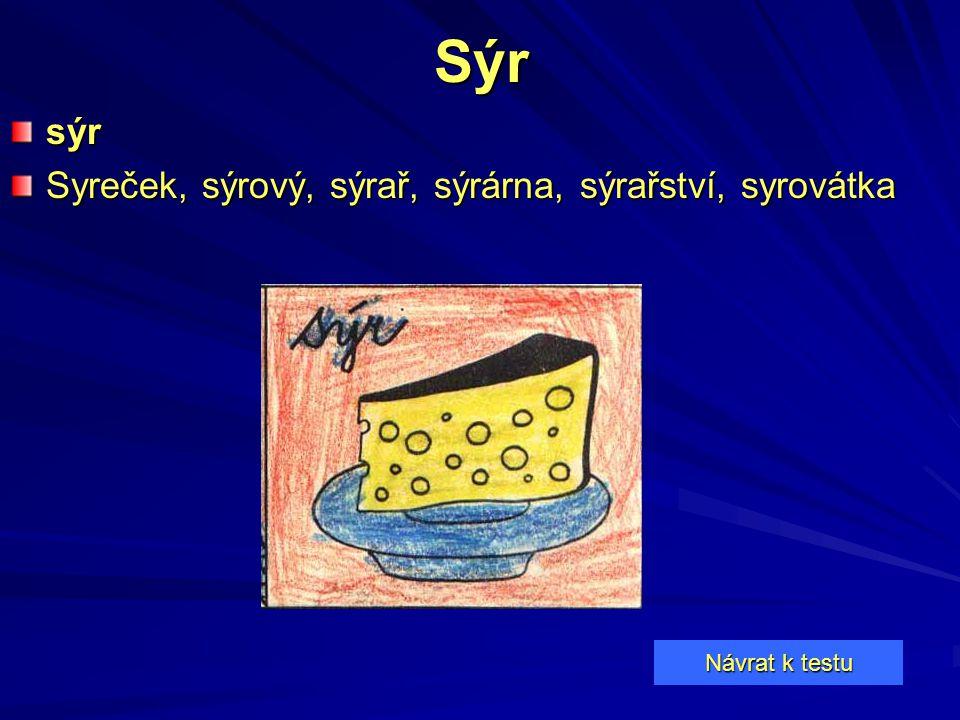 Sýr sýr Syreček, sýrový, sýrař, sýrárna, sýrařství, syrovátka
