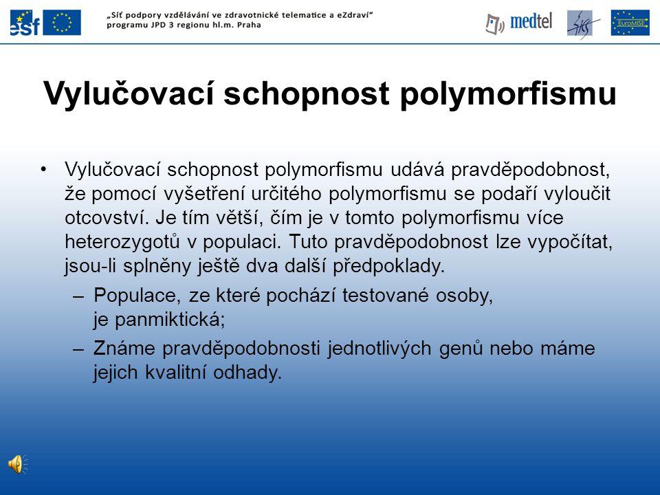 Vylučovací schopnost polymorfismu