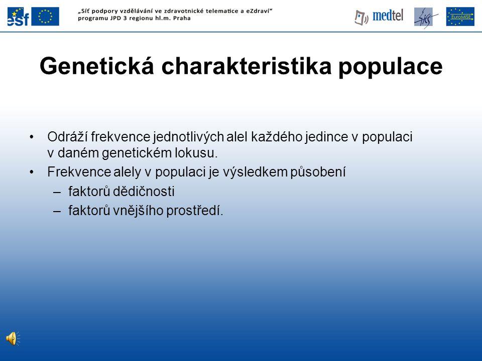 Genetická charakteristika populace
