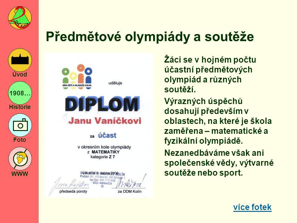 Předmětové olympiády a soutěže