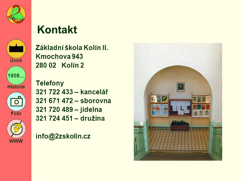 Kontakt Základní škola Kolín II. Kmochova 943 280 02 Kolín 2 Telefony