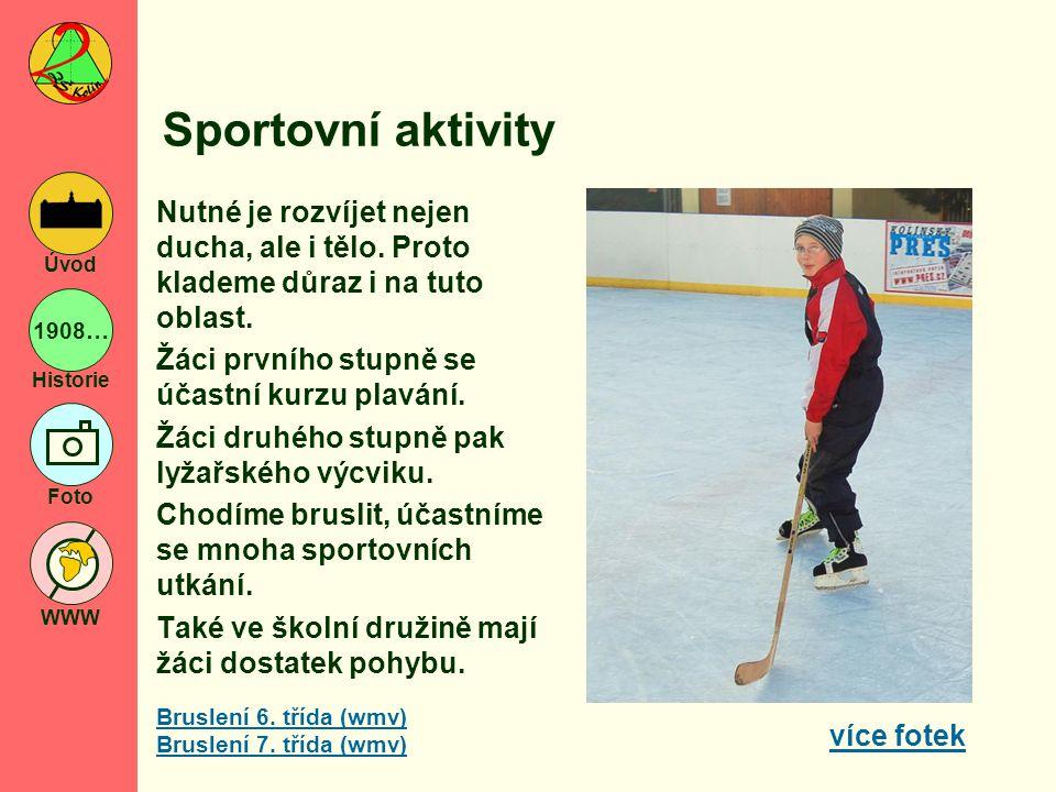 Sportovní aktivity Nutné je rozvíjet nejen ducha, ale i tělo. Proto klademe důraz i na tuto oblast.