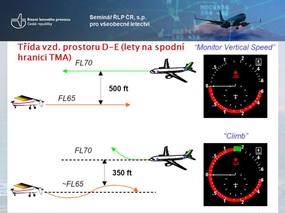 Třída vzd. prostoru D-E (lety na spodní hranici TMA)
