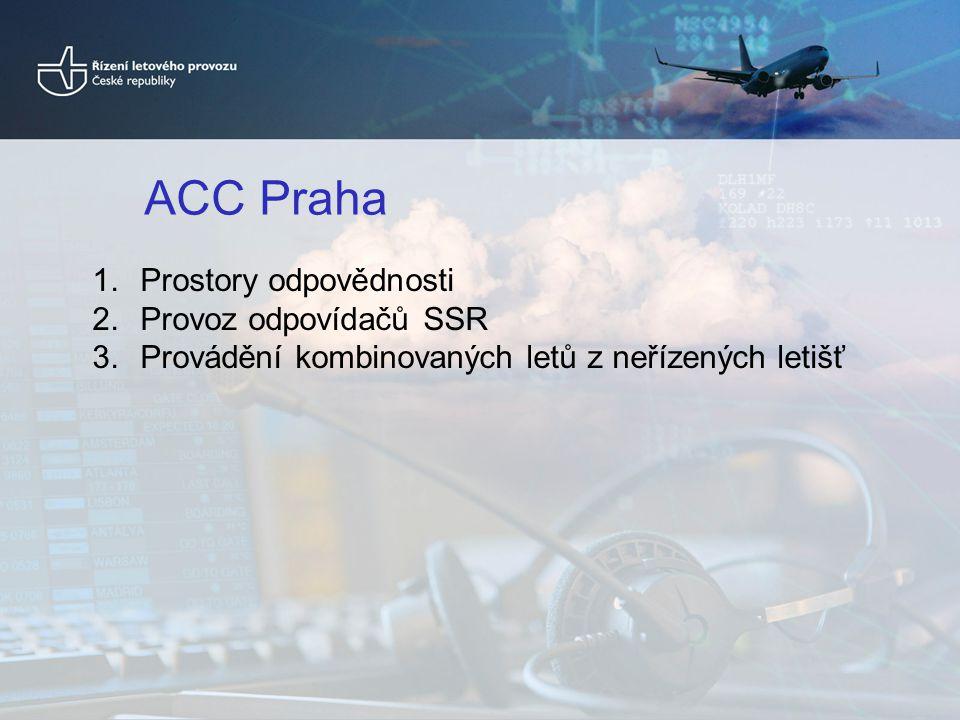ACC Praha Prostory odpovědnosti Provoz odpovídačů SSR
