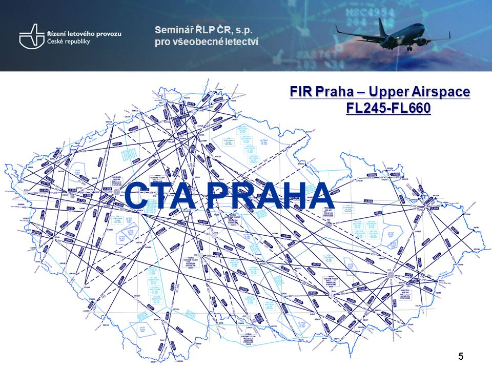 CTA PRAHA FIR Praha – Upper Airspace FL245-FL660 Seminář ŘLP ČR, s.p.