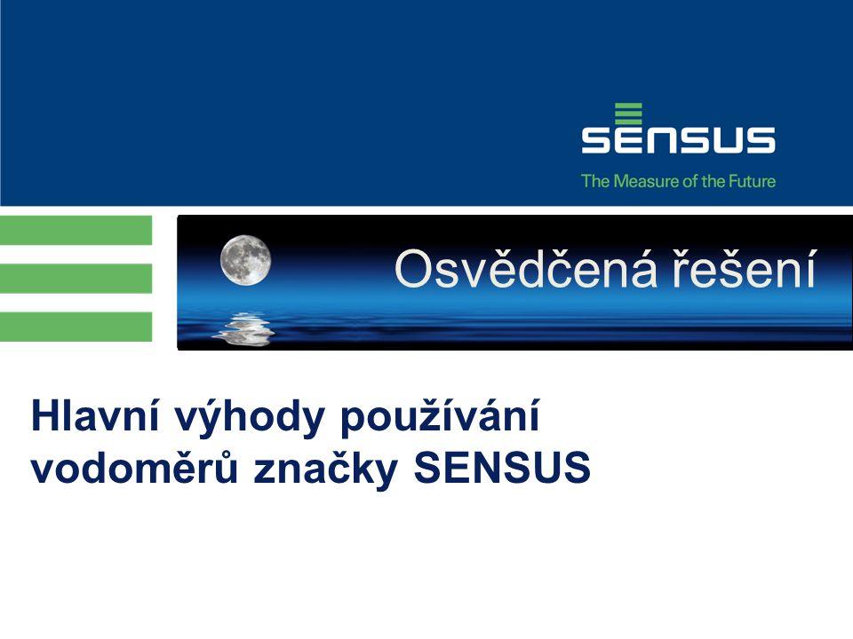 Hlavní výhody používání vodoměrů značky SENSUS