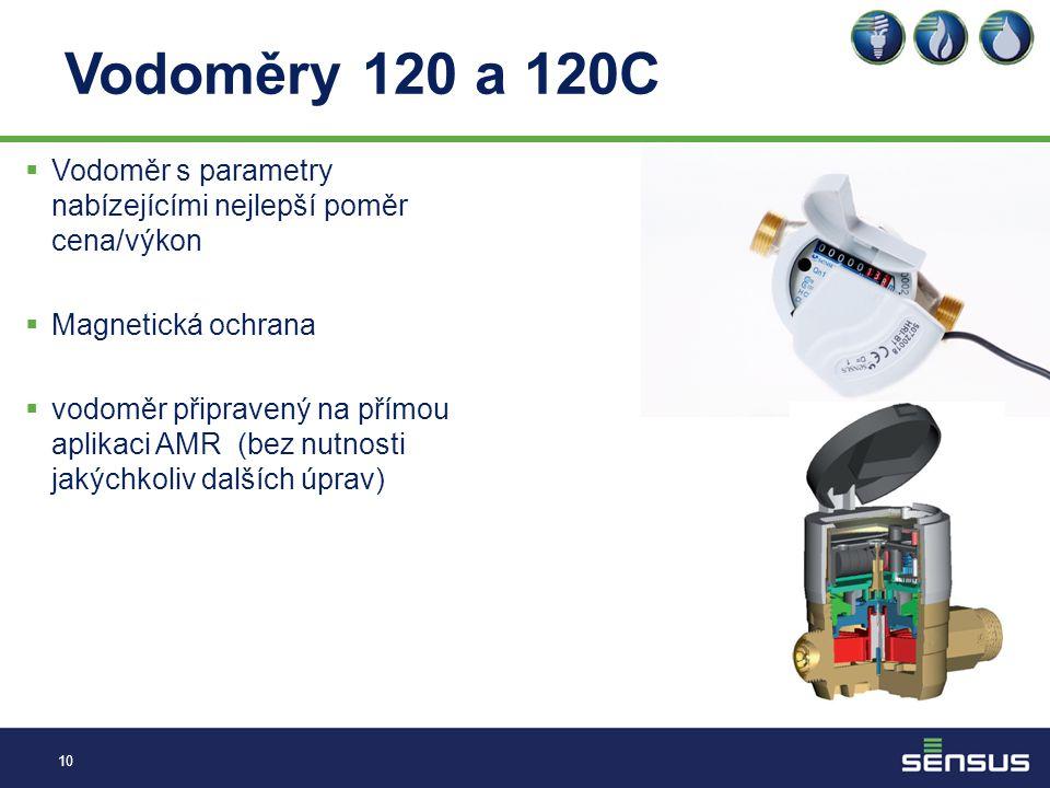 Vodoměry 120 a 120C Vodoměr s parametry nabízejícími nejlepší poměr cena/výkon. Magnetická ochrana.