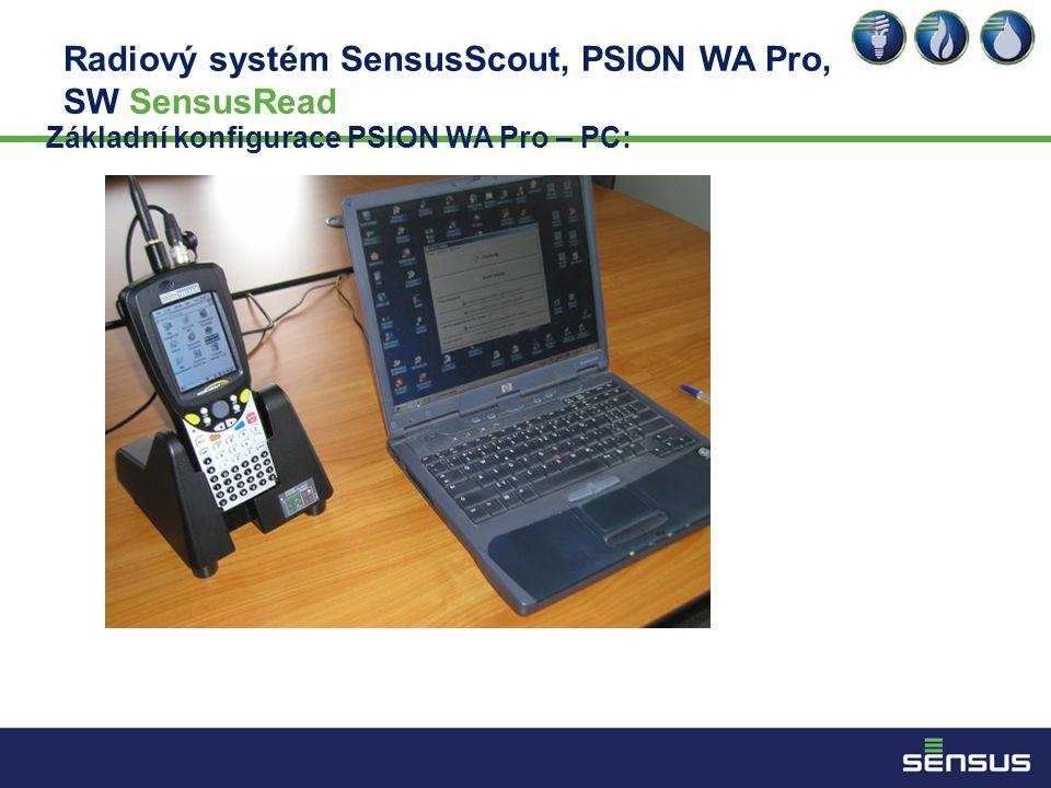Radiový systém SensusScout, PSION WA Pro, SW SensusRead