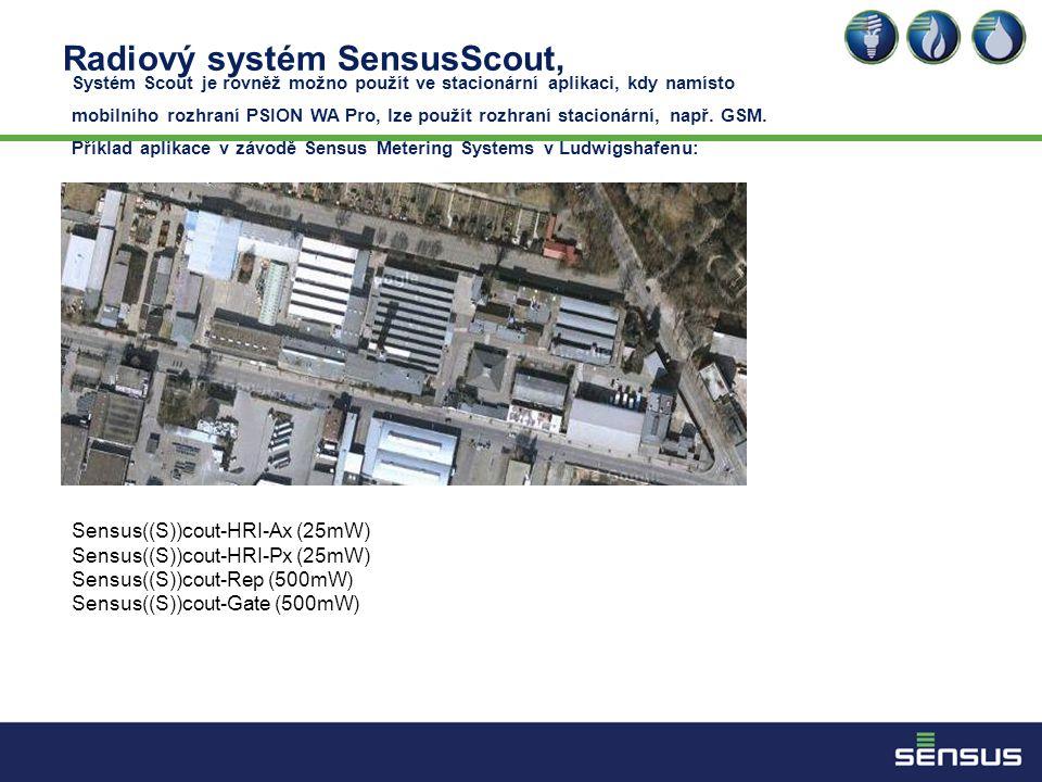 Radiový systém SensusScout,