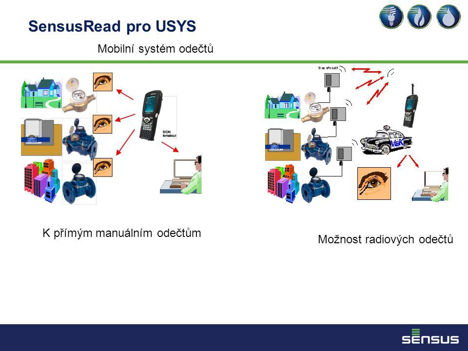 SensusRead pro USYS Mobilní systém odečtů K přímým manuálním odečtům