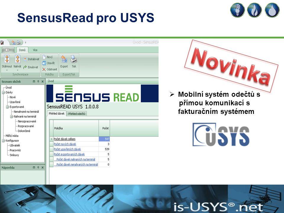 Novinka SensusRead pro USYS Mobilní systém odečtů s