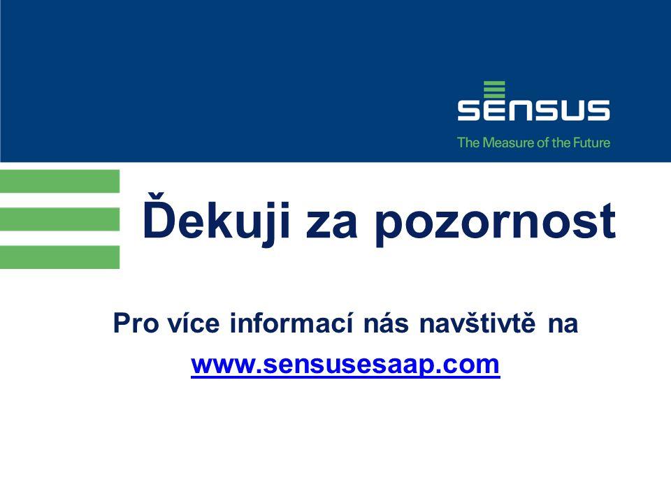 Pro více informací nás navštivtě na www.sensusesaap.com