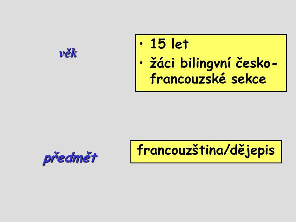 francouzština/dějepis