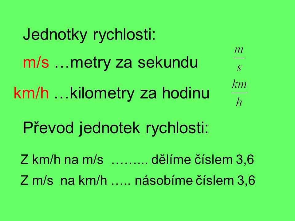 km/h …kilometry za hodinu