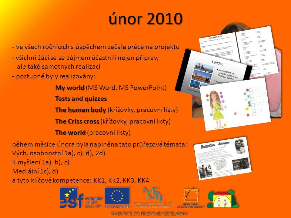 únor 2010 - ve všech ročnících s úspěchem začala práce na projektu