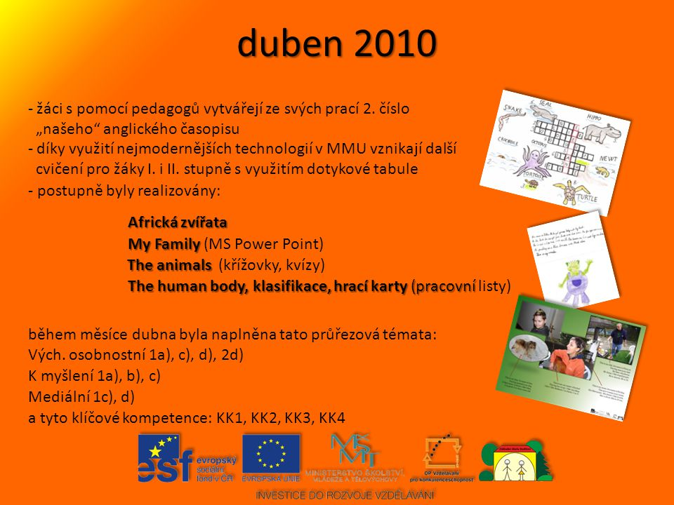 duben 2010 žáci s pomocí pedagogů vytvářejí ze svých prací 2. číslo