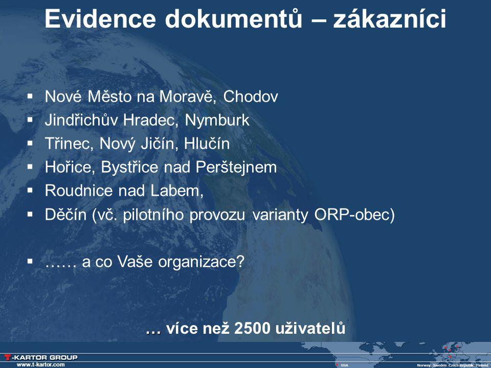 Evidence dokumentů – zákazníci