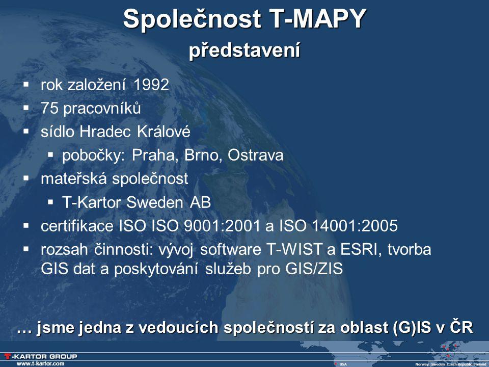 … jsme jedna z vedoucích společností za oblast (G)IS v ČR