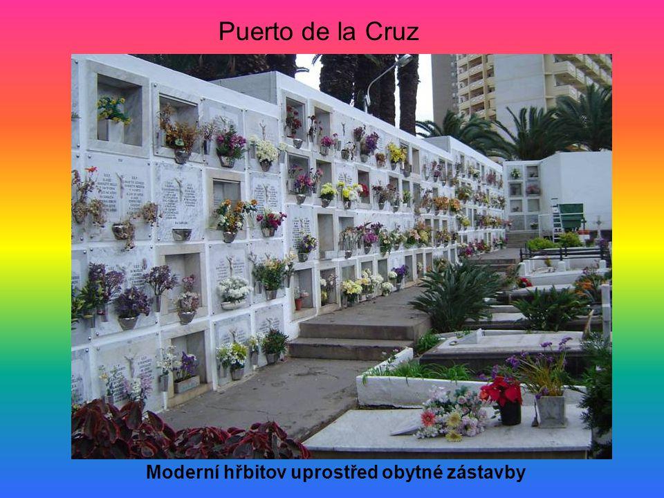 Moderní hřbitov uprostřed obytné zástavby