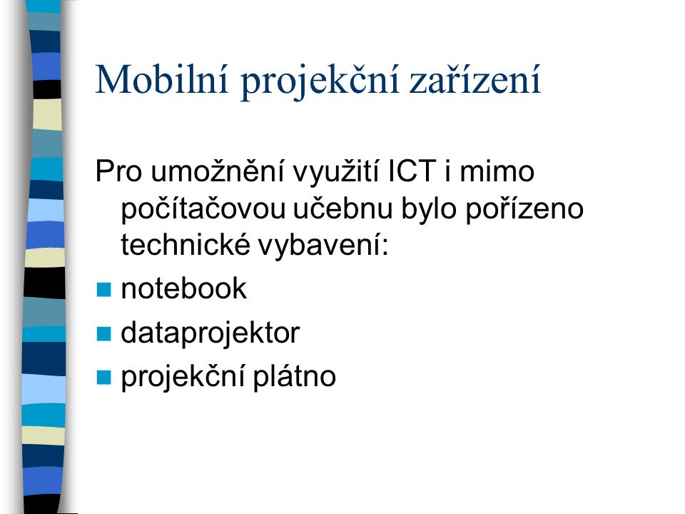 Mobilní projekční zařízení